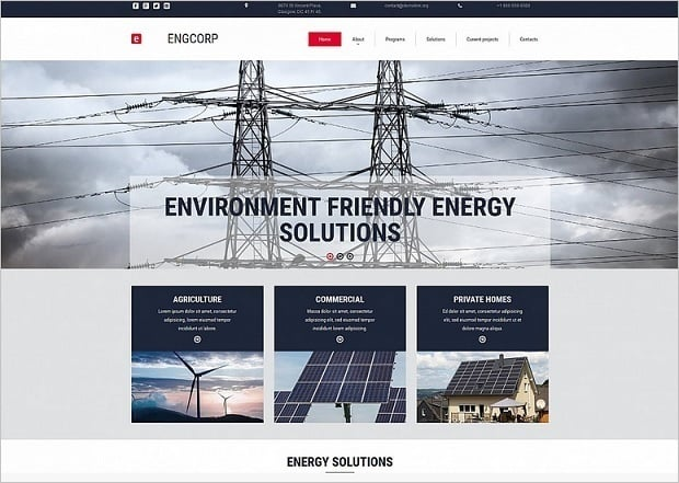 Bestselling website templates summer 2015 - environment company website