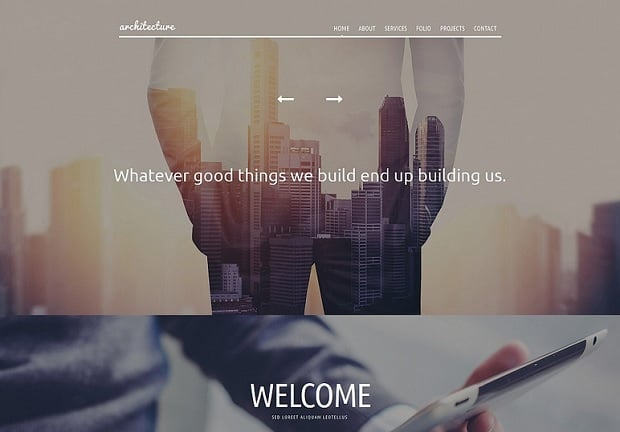 Bestselling website templates summer 2015 - architecture template
