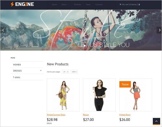 MotoCMS E-commerce Plugin - frontend