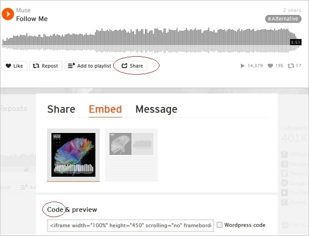 Social Media Widgets - SoundCloud 1
