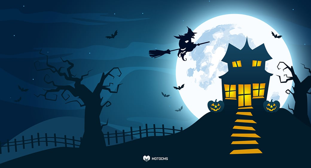 free halloween desktop wallpaper full moon