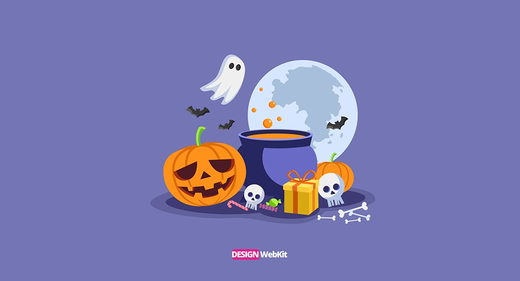 "DesignWebKit Free Halloween Desktop Wallpaper ""Purple Spooky"""