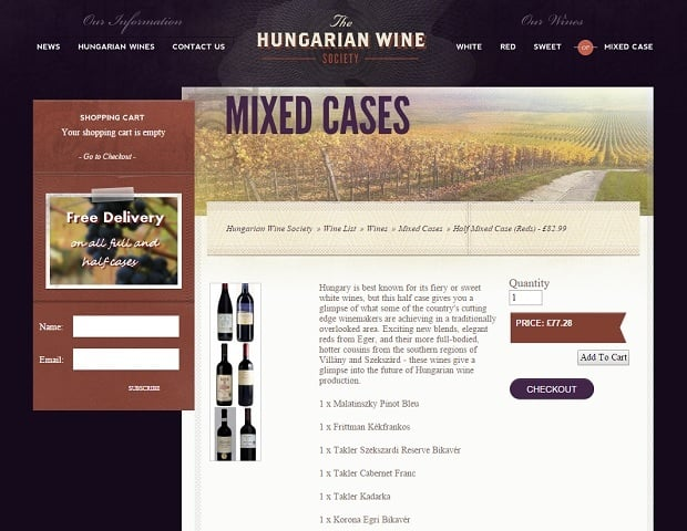 increase online sales - hungarian wines