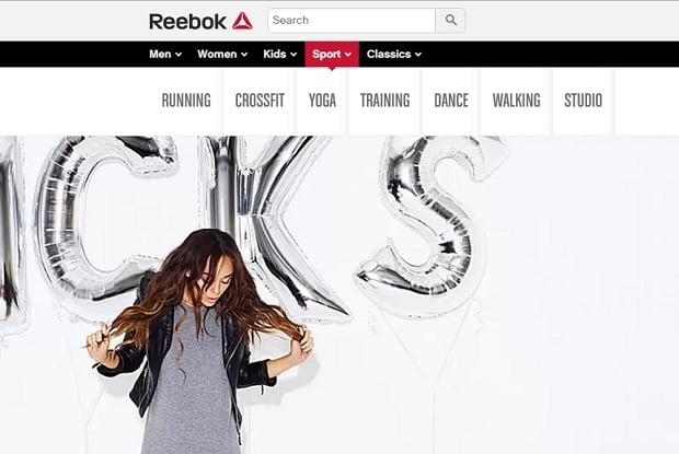 increase online sales - reebok