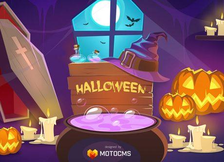 Lustige Halloween Bilder kostenlos - schnappt Euch ein festliches Geschenk von MotoCMS