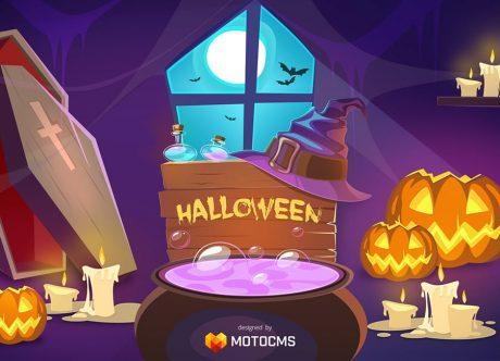Бесплатные обои на Хэллоуин - бесплатный арт от MotoCMS