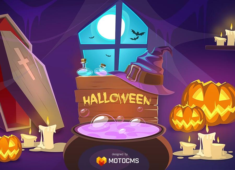 Бесплатные обои на Хэллоуин – бесплатный арт от MotoCMS