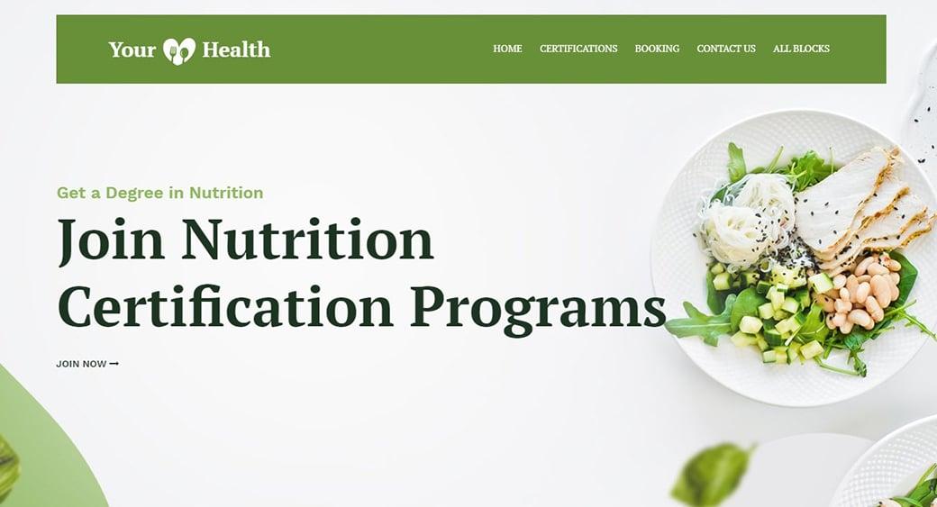 зеленый цвет в оформлении медицинских сайтов