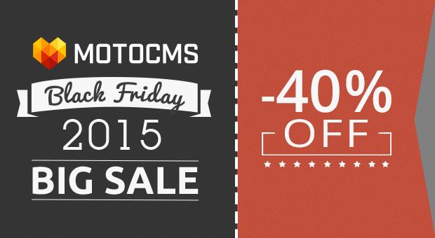MotoCMS Black Friday 2015 - main