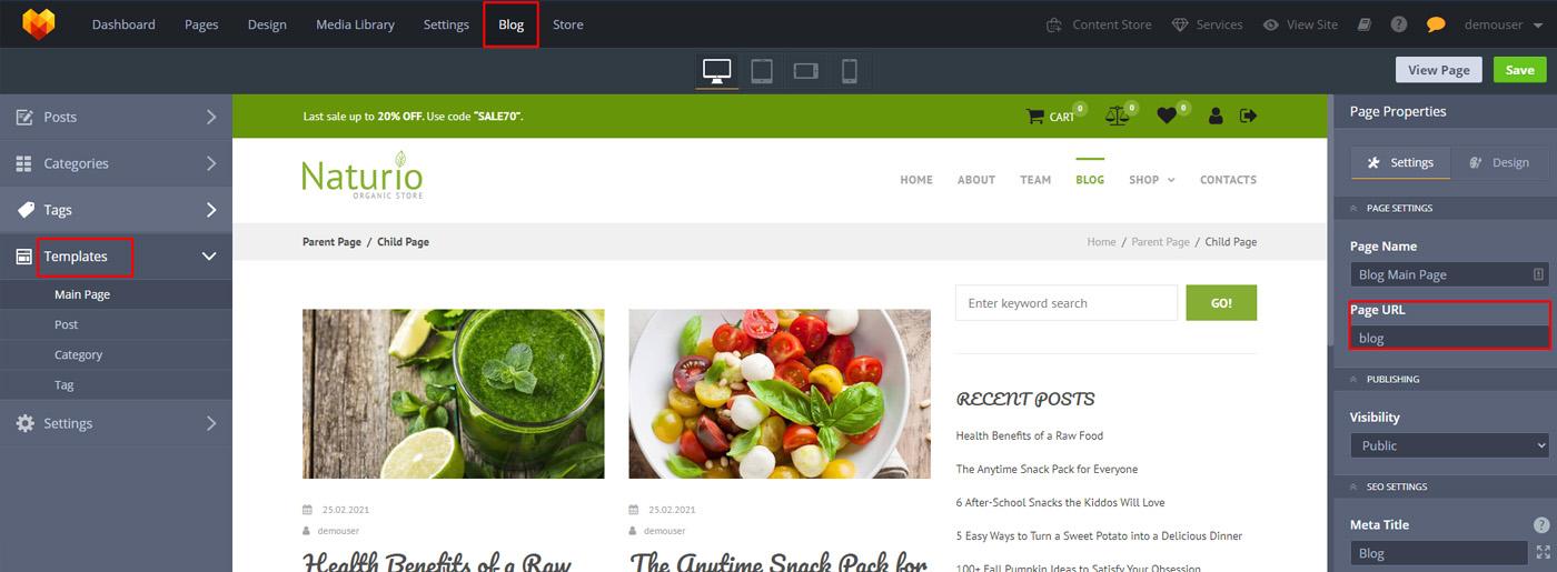 Organic Website Design