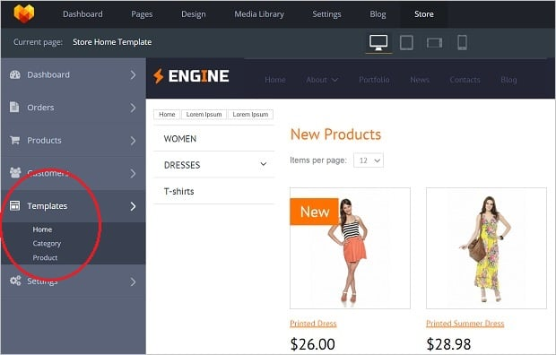 MotoCMS 3.0.12 Update - templates section