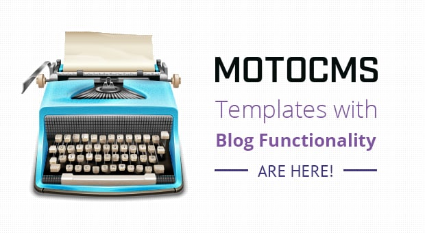 MotoCMS templates with blog - main