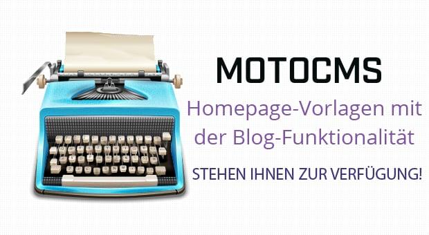 Homepage-Vorlagen mit der Blog-Funktionalität für Ihre MotoCMs Website