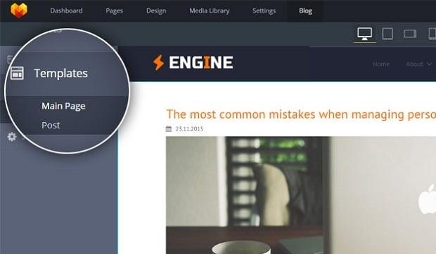 Homepage-Vorlagen mit Blog-Funktionalität von MotoCMS