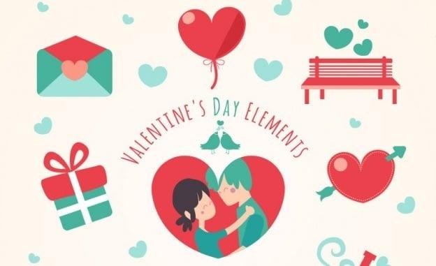 Design-Elemente zum Valentinstag 2016 - 15