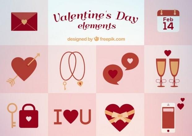 Design-Elemente zum Valentinstag 2016 - 18