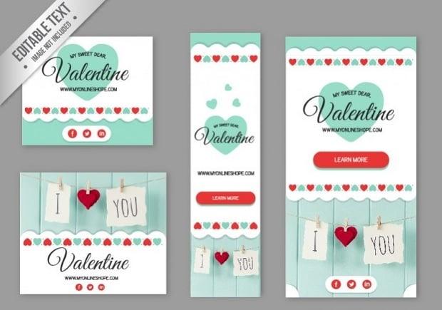 Kostenlose Design-Elemente zum Valentinstag 2016 - 20