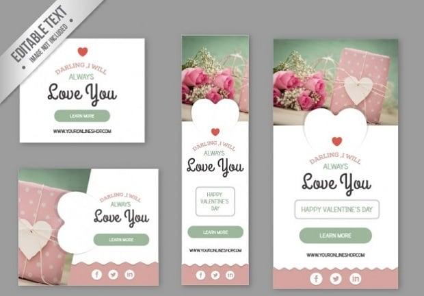 Design-Elemente zum Valentinstag 2016 - 21