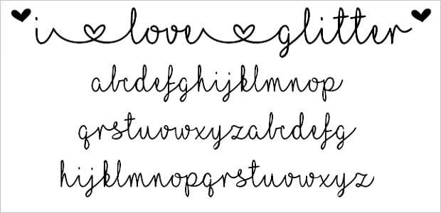 Design-Elemente zum Valentinstag 2016 - fonts-26