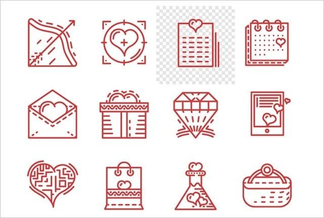 Design-Elemente zum Valentinstag 2016 - icons-1
