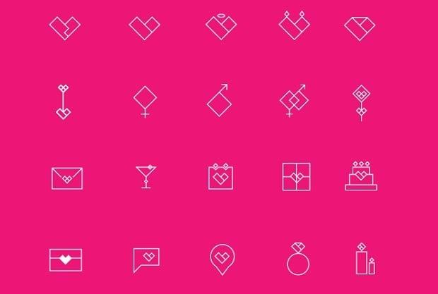Design-Elemente zum Valentinstag 2016 - icons-4