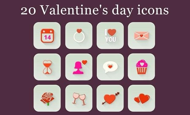 Kostenlose Design-Elemente zum Valentinstag 2016 - icons-5