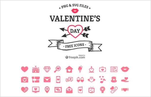 Design-Elemente zum Valentinstag 2016 - icons-9