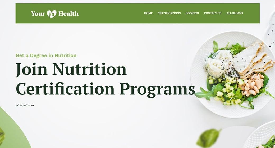 olive Grün nutrition website