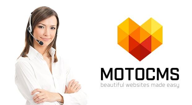 Продвинутая техподдержка MotoCMS - главная