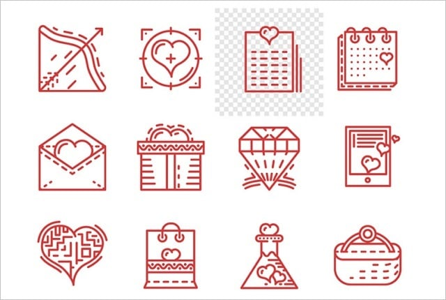 St Valentines Day Freebies 2016 - icons-1