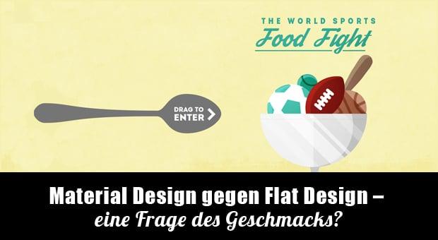 Material Design gegen Flat Design - die wichtigen Unterschiede