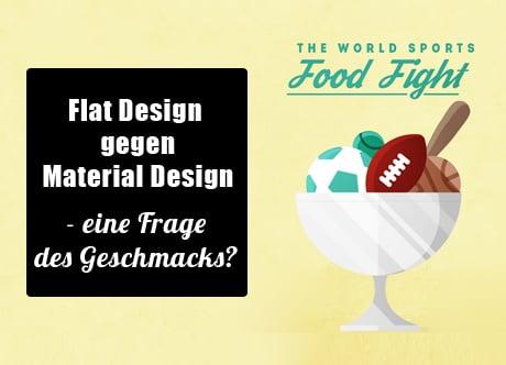 Material Design gegen Flat Design – eine Frage des Geschmacks?