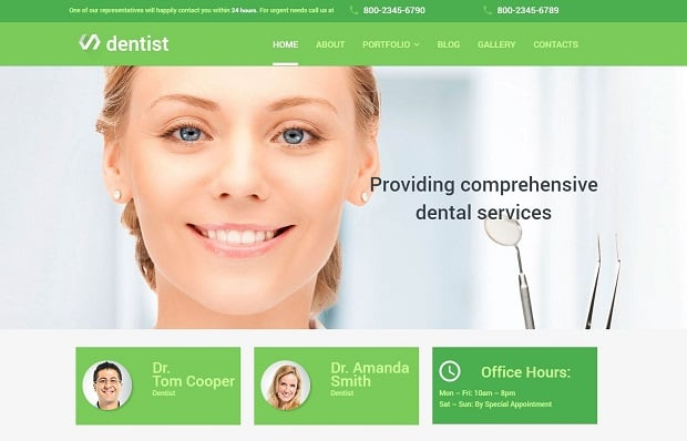 MotoCMS Medical Website Themes 2016 - 56001