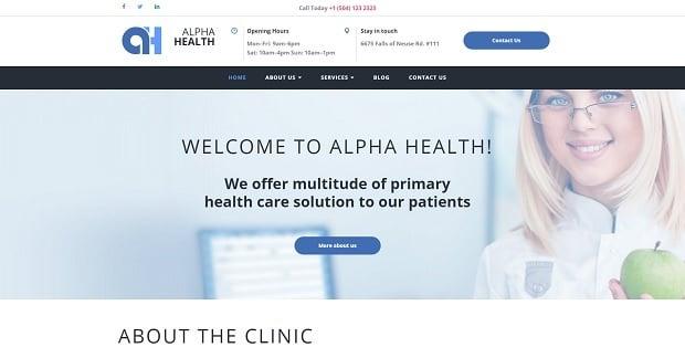 MotoCMS Medical Website Themes 2016 - 58686