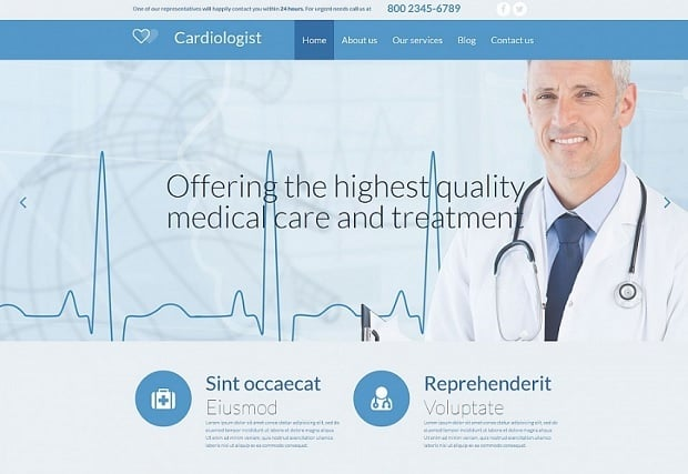 besten MotoCMS Homepage-Vorlagen 2016 zum Thema Medizin - 54639