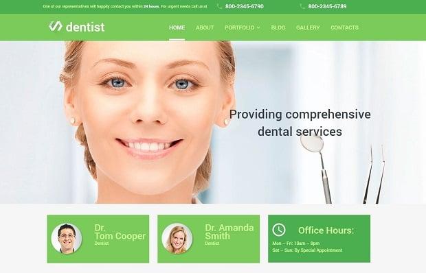 besten MotoCMS Homepage-Vorlagen 2016 zum Thema Medizin - 56001