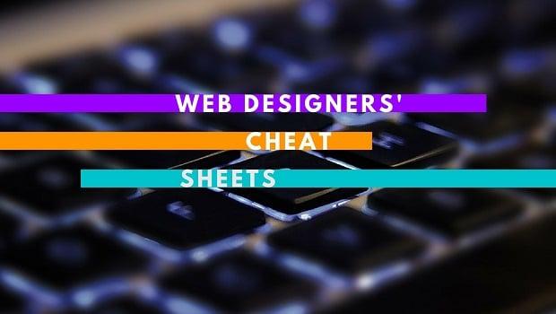 Cheatsheets for Web Designers - main