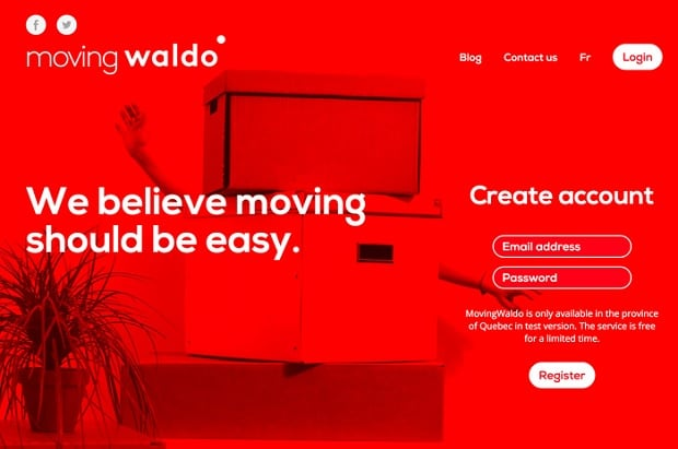 Kräftige Farben als Webdesign-Trend 2016 - movingwaldo