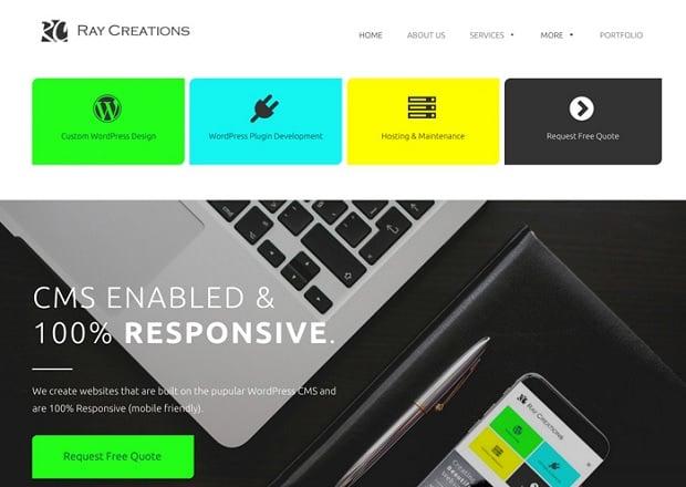 Kräftige Farben als Webdesign-Trend 2016 - ray