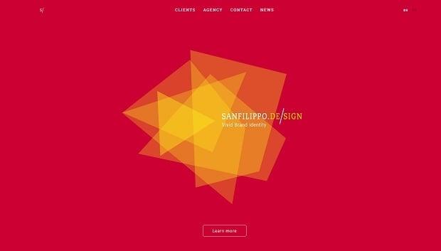 Kräftige Farben als Webdesign-Trend 2016 - sanfilippo