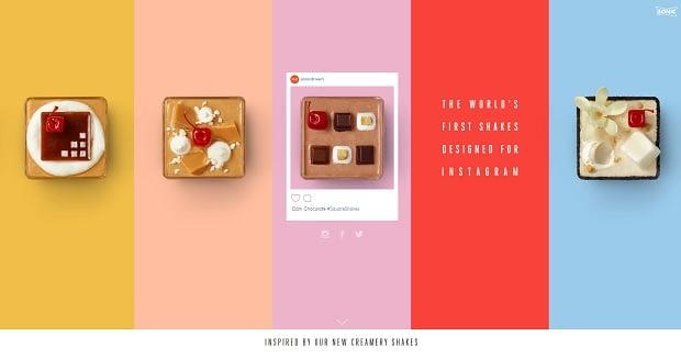 Kräftige Farben als Webdesign-Trend 2016 - sonicshakes