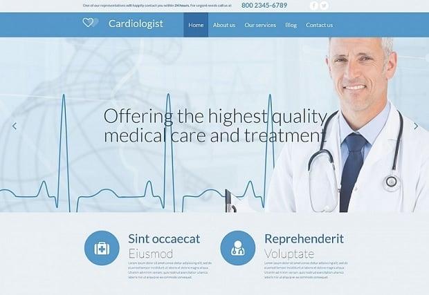 шаблон медицинского сайта 2016 от MotoCMS - 54639