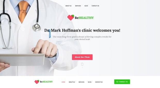 шаблон медицинского сайта 2016 от MotoCMS - 58682