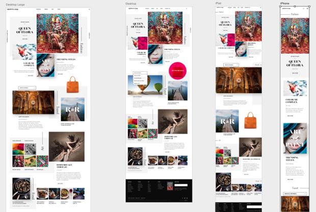 Sketch или Photoshop инструменты веб-дизайна - artboards