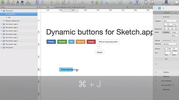 Free Sketch App Plugins - dynamic button