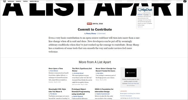 Top Websites for Web Developers - alistapart