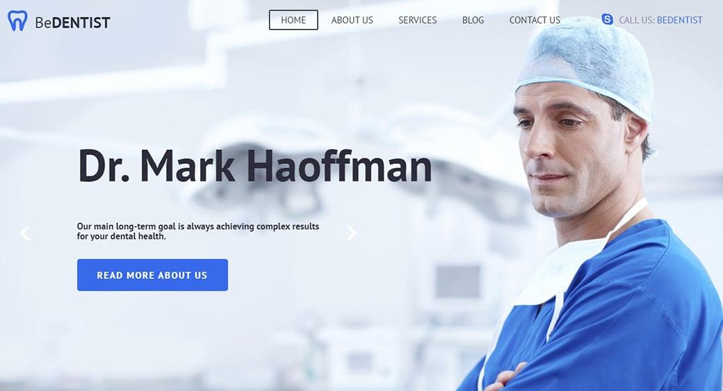 Blau Farben für Websites zum Thema Medizin