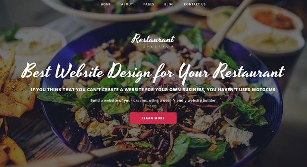 spectrum-die brandneue- business-vorlage-restaurant