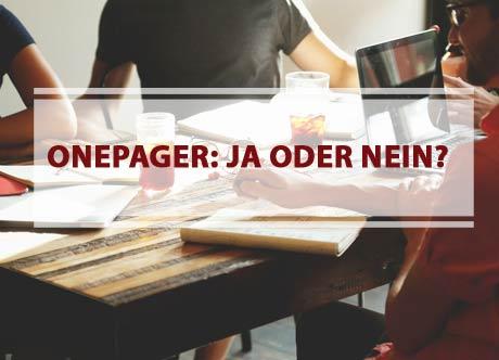 Einseitige Website: Was ist ein Onepager und wann lohnt es sich?