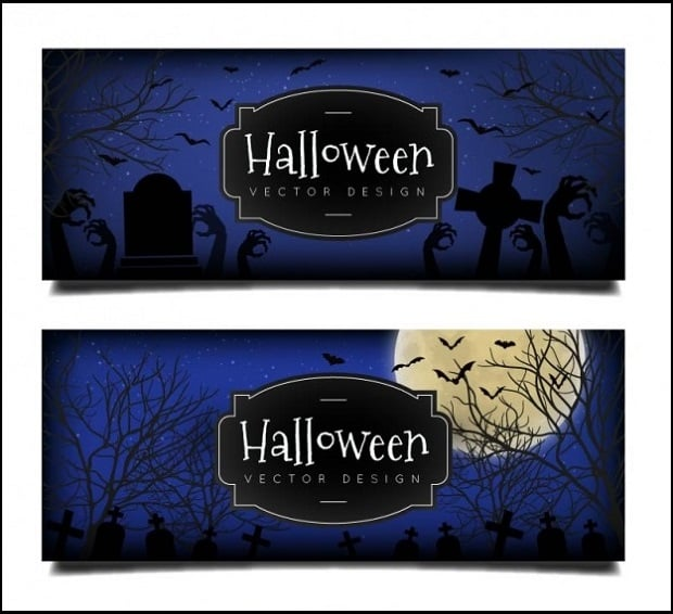 halloween-decorations-cemetery-banners